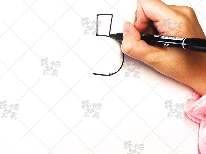 用数字5画古代人物简笔画-步骤2