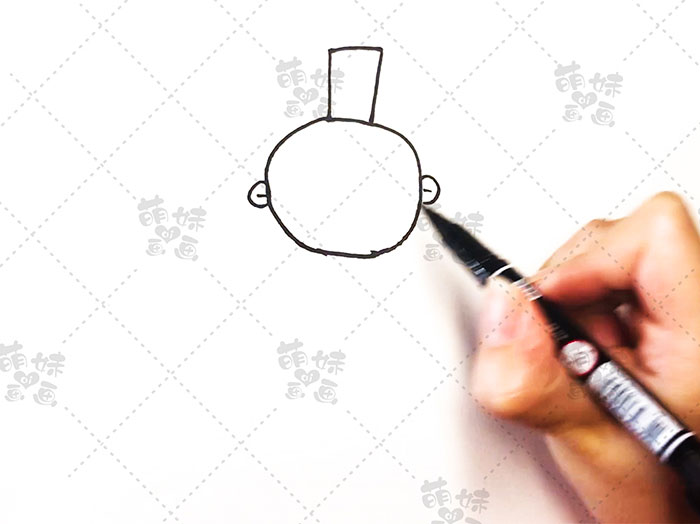 用数字5画古代人物简笔画-步骤3