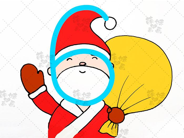 用数字5画圣诞老人简笔画-步骤8