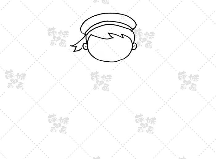 国庆卡通人物-海军步骤1