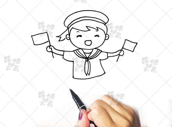 国庆卡通人物-海军步骤3