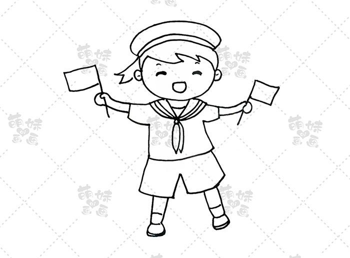 国庆卡通人物-海军步骤4