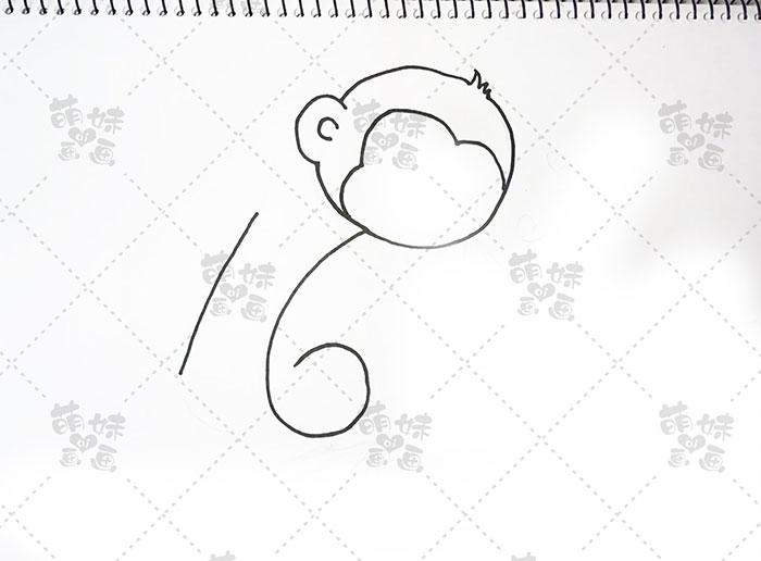 用数字16画猴子-步骤2
