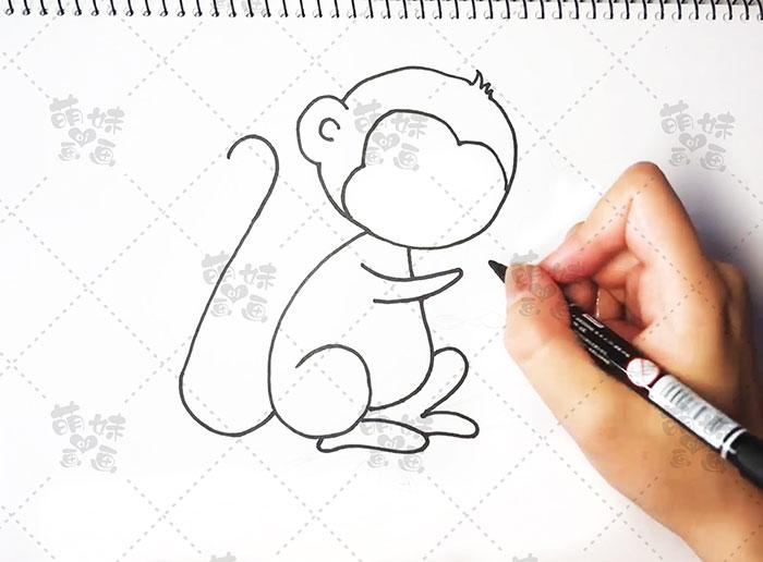 用数字16画猴子-步骤3