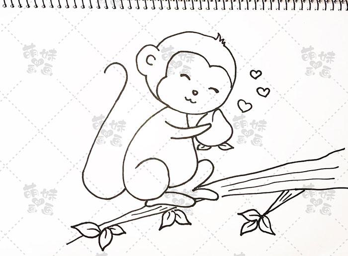 用数字16画猴子-步骤4