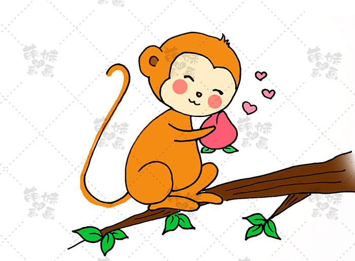 用数字16画猴子-步骤5