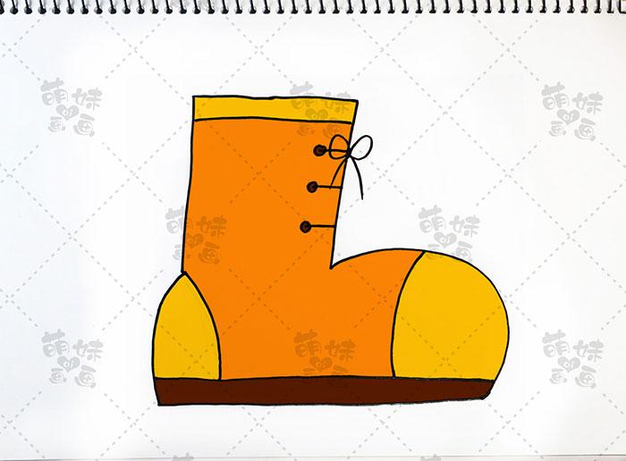 用数字17画鞋子-步骤4