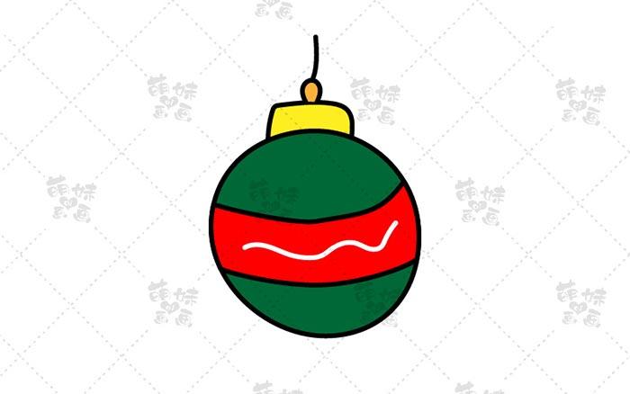 圣诞彩球简笔画-2