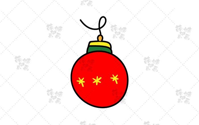 圣诞彩球简笔画-1