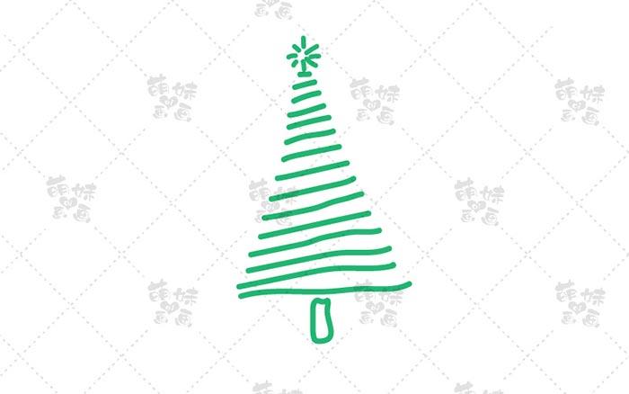 圣诞树简笔画-1