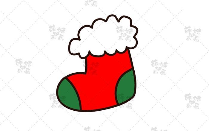 圣诞袜简笔画