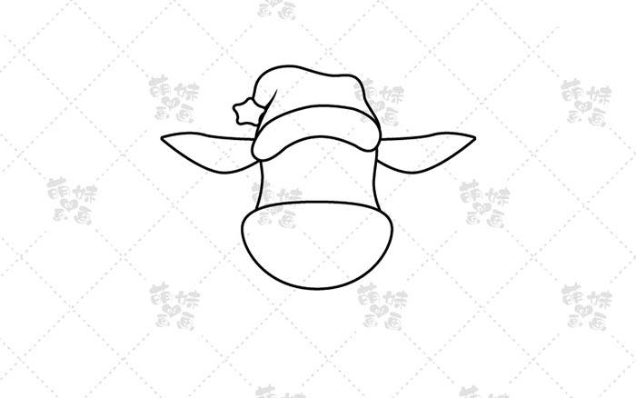 麋鹿简笔画-步骤1