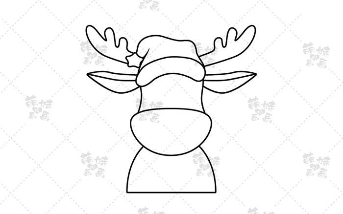 麋鹿简笔画-步骤2