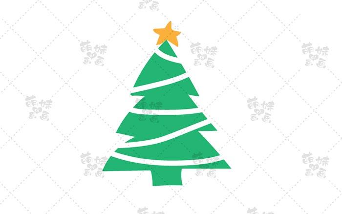 圣诞树简笔画-4