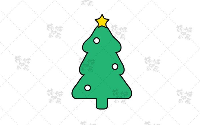 圣诞树简笔画-3