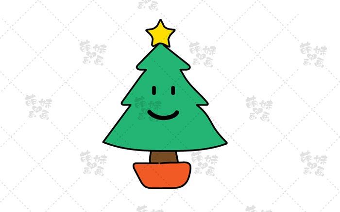 圣诞树简笔画-6