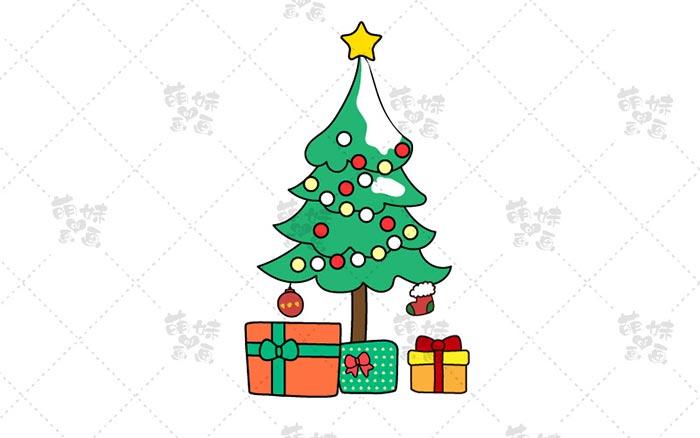 圣诞树简笔画-7