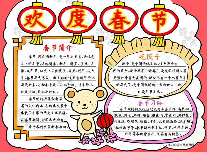 2020鼠年春节灯笼手抄报模板教程-步骤5
