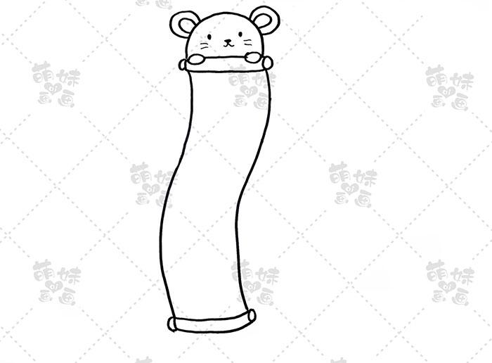 2020鼠年小老鼠挂春联手抄报模板教程-步骤1