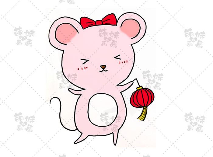 老鼠挑灯笼-步骤3