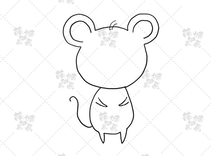 老鼠捧元宝-步骤1