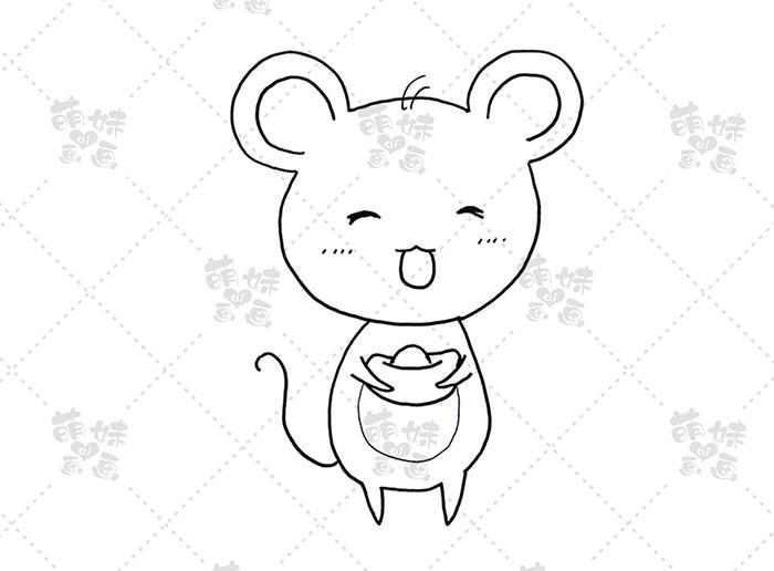 老鼠捧元宝-步骤2