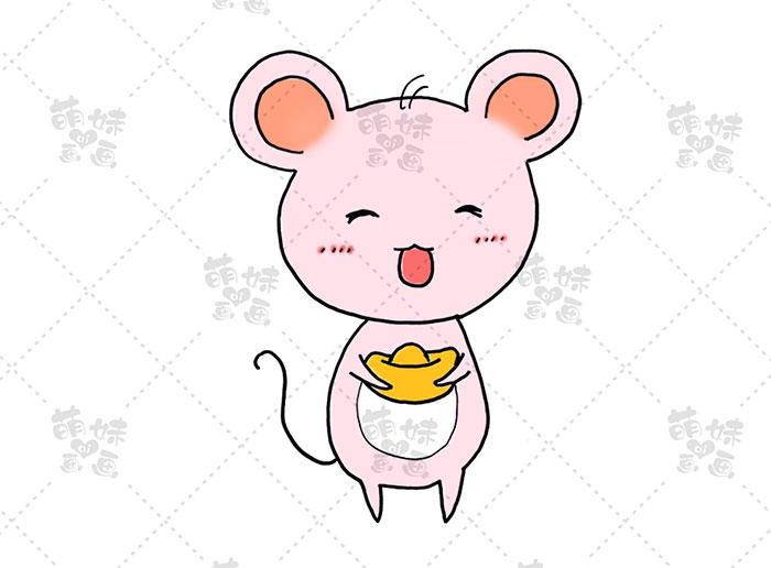 老鼠捧元宝-步骤3