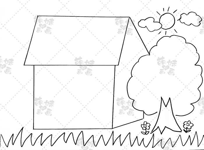 宅家抗击疫情手抄报模板教程-步骤2